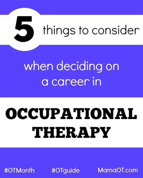 5 Essential Things To Consider 5 Things To Consider Before A Career In Occupational Therapy