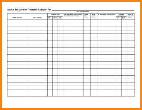 stock transfer ledger template 5 stock transfer ledger template ledger review