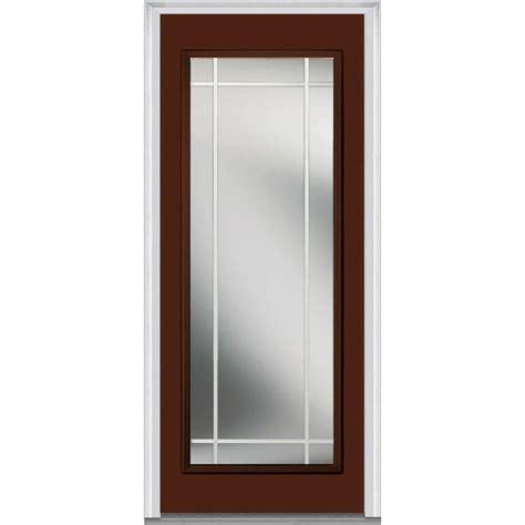 30 Exterior Door With Window Mmi Door 30 In X 80 In Prairie Muntins Left Lite Classic Painted Fiberglass