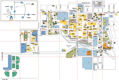 texas state university maps university of texas at cus map