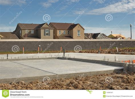 new home foundation new home foundation stock image image of material place