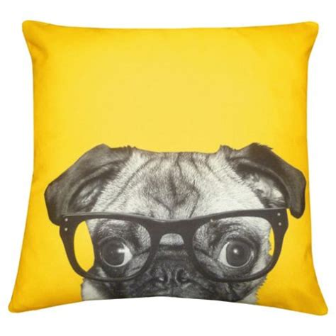 pug cushion buy glasses pug cushion from our cushions range tesco