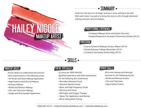 sle artist statement makeup artist invoice sle makeup vidalondon