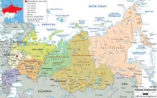 Outline Map Of Russia And Northern Eurasia by Impressum