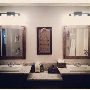 Modern Rustic Bathroom Mirrors 30x36 Bathroom Mirror Set Reclaimed Wood Framed