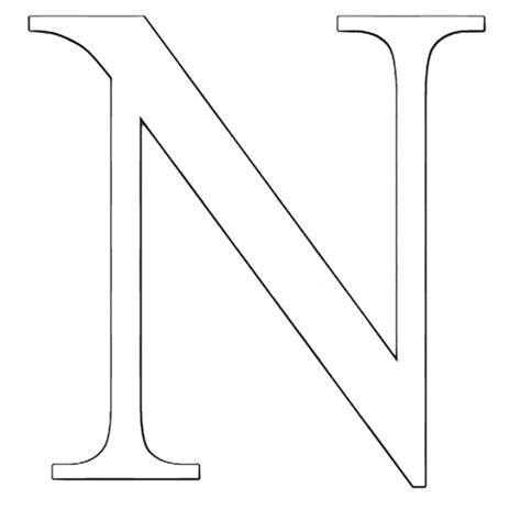 disegni di lettere disegno di lettera n da colorare per bambini