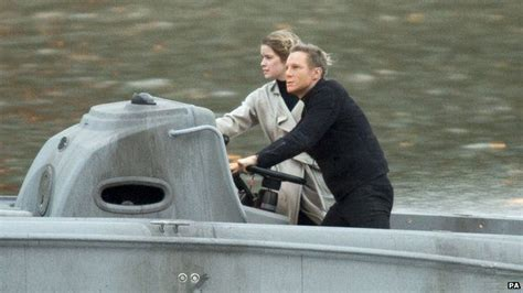 Daniel Craig Admits He Had To Use Stunt Doubles Packing Stunt Penises For His In New Bond by Bond Spectre Speedboat On The River Thames