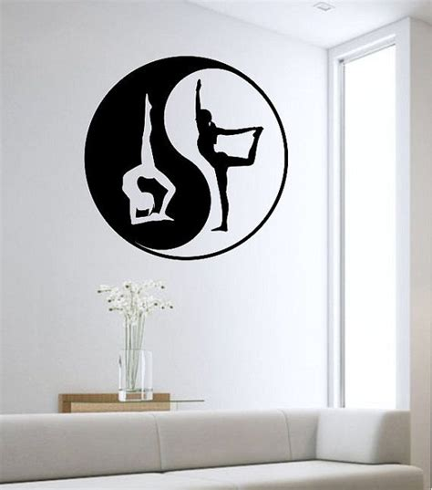 yin yang bedroom yin yang bedroom yin yang wall decal yoga namaste vinyl sticker art decor