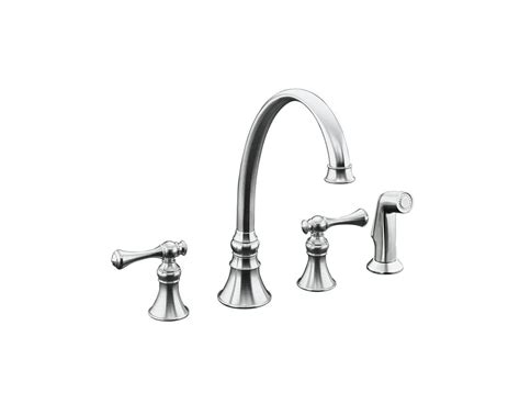 kohler revival kitchen faucet kohler k 16109 4a double handle kitchen faucet with metal