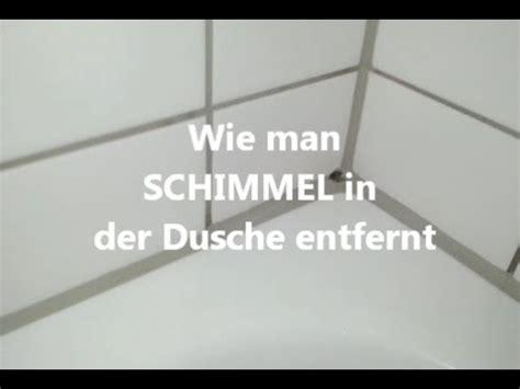 schimmel in fliesenfugen schimmel aus der dusche entfernen