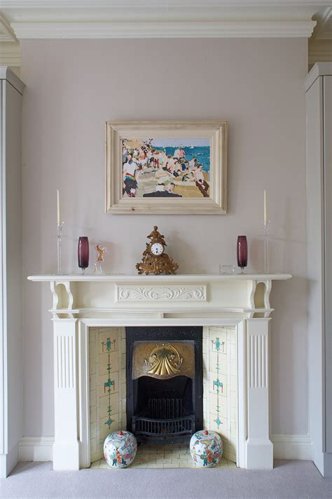 Elegant Mantel Clocks In Living Room Victorian With Red