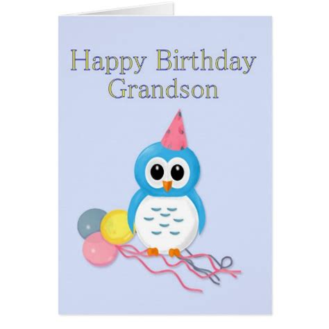 Printable Birthday Cards Grandson | grandson birthday greeting card zazzle