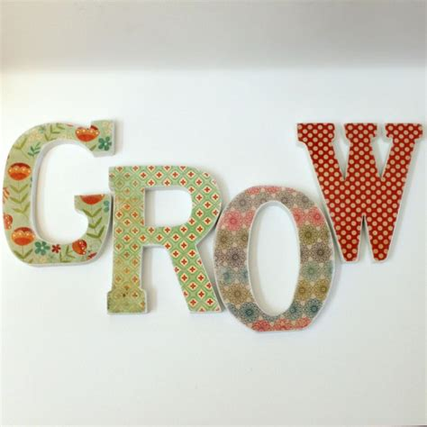 How To Make Decoupage Letters - custom names words decoupaged wood letters on luulla