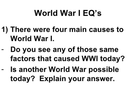 World War I Essay Questions by College Essays College Application Essays Causes Of World War 1 Essay Questions