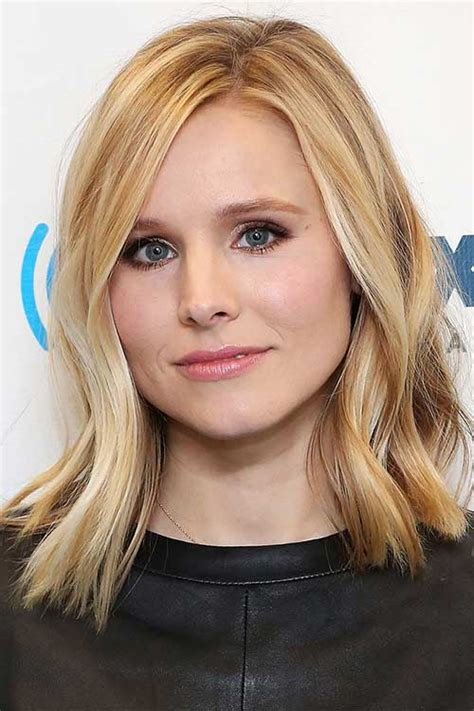 kristen bell medium straight cut edgy chic kristen bell 20 hairstyles for medium layered hair hairstyles