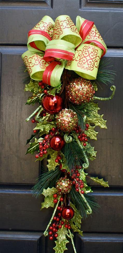 christmas wreath christmas swag whimsical glittered