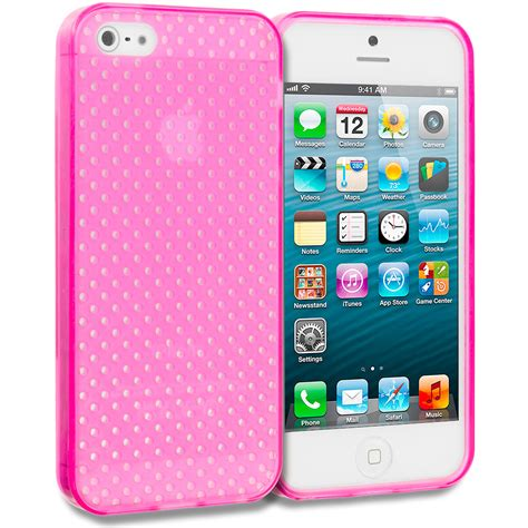 Casing Iphone 5g Grey tpu mesh perforated color rubber skin cover for apple iphone 5 5g 5s ebay