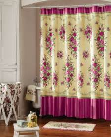 Country Chic Shower Curtains Shabby Chic Pink Country Bathroom Shower Curtain