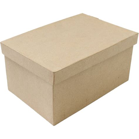 How To Make A Small Rectangular Box Out Of Paper - mache rectangular box with lid 25cm hobbycraft