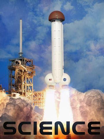 ship rocket rocket ship vector on white background standing stock