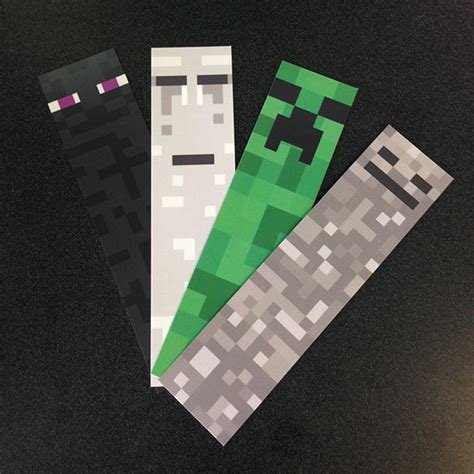 ghast minecraft bookmark by froggspond on etsy 3 00