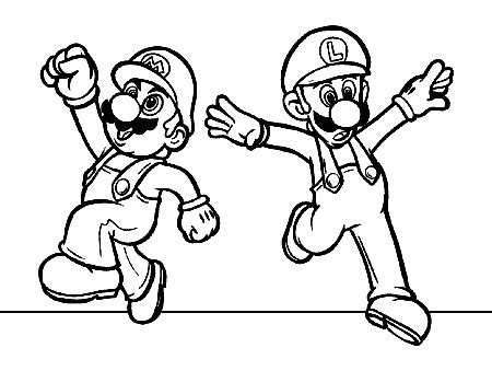 coloring page mario and luigi mario coloring pages coloring pages to print