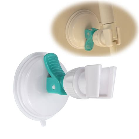 Suction Cup Shower Holder by Adjustable Attachable Rotatable Bathroom Shower