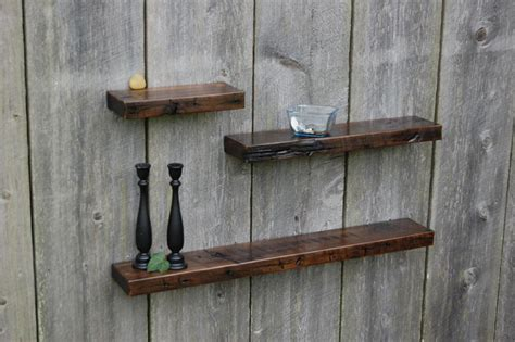 rustic white oak floating shelves rustic display and