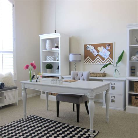 hometalk shabby chic office makeover