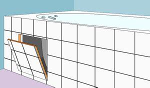 comment faire une trappe de visite pour baignoire carreler une baignoire
