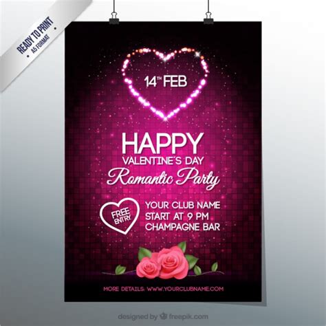 valentines poster s day poster vector free