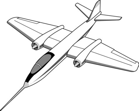 Jet Plane Clip Art 05 Clipart Panda Free Clipart Images Aeroplane Colouring Page