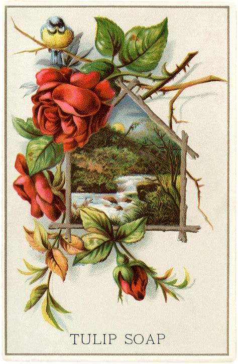 clipart pictures lovely vintage landscape with roses the graphics