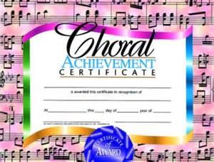 choir certificate template buy choral certificate awards trophies
