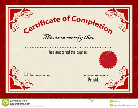 design certificate format home design certificate template stock vector image