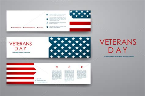 Template Veterans Day Banner Templates 187 Logotire Com Veterans Day Email Template