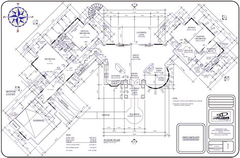 big house floor plan large plans architecture plans 4063