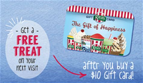 rita s italian ice tuesdays get up to 50 off gift card deal bargain believer - Ritas Gift Card