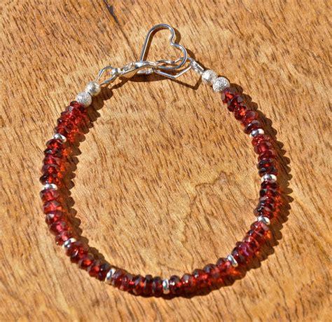 Handmade Jewelry Trends - garnet bracelet garnet jewelry stacking bracelet by