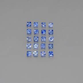 Blue Safir Sapphire 4 65ct 1 7 carat square 2 4x2 3mm princess cut blue sapphire