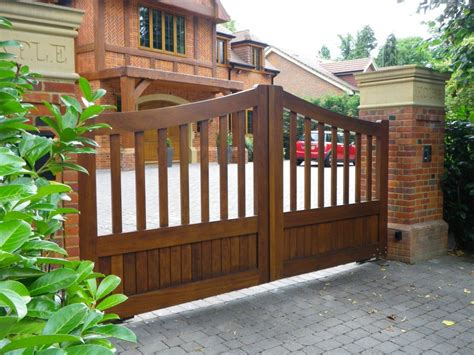 house gate pattern architecture timber gates electric gates estate entry