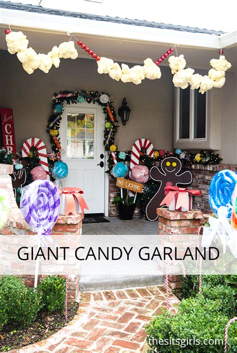 how to decorate the house gingerbread house decorations giant candy garland