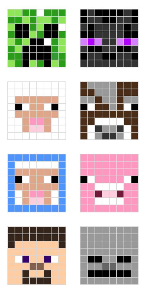perler bead minecraft patterns minecraft designs for hama minieco