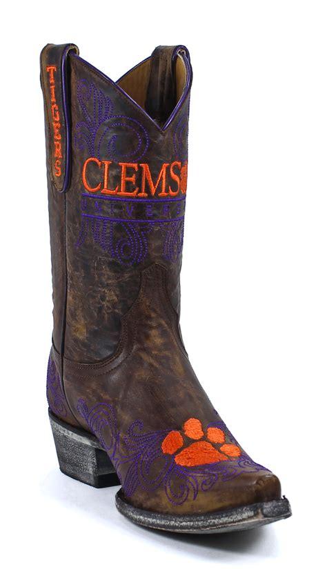 clemson cowboy boots clemson gameday boots womens mid calf shoes 7 5