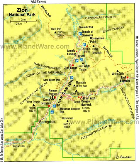 printable map of zion national park 14 top rated tourist attractions in utah planetware