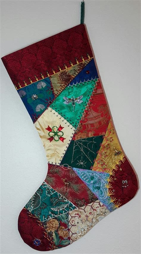 pattern for crazy quilt christmas stocking crazy quilt christmas stocking