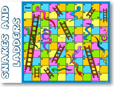 snakes  ladders fun printable classroom games