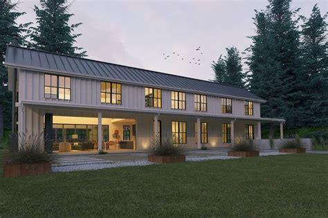 Modern Farmhouse Elevations by Modern Farmhouse Style Plan Modern Design Home Front