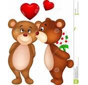 Bear Couple Cartoon Kissing Stock Photography  Image 33230882