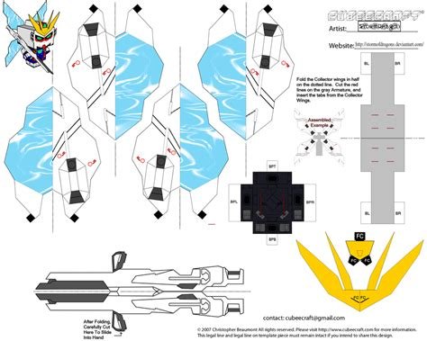 How To Make Papercraft - thegundamfrog x gundam papercraft